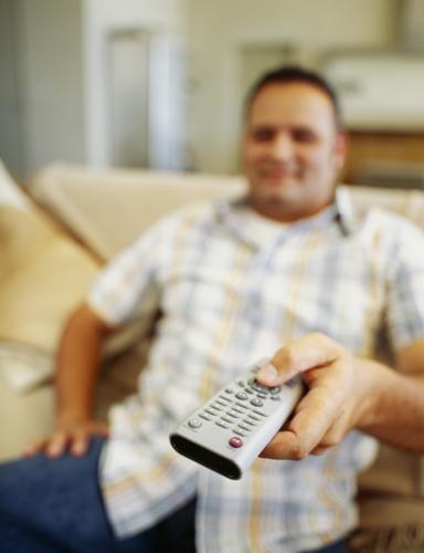 manwatchingTV